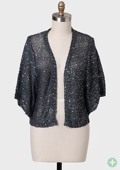 By Moonlight Sequined Curvy  Cardigan