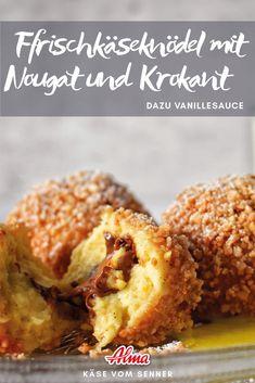Hier findet ihr die detaillierte Schritt für Schritt Anleitung für die leckeren Frischkäseknödel mit Nougat und Krokant.