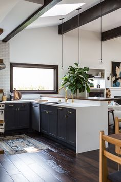 The black and white kitchen in a 1920s LA bungalow remodel by Brian Paquette | Remodelista