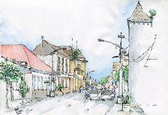satu sudut kota lama Semarang, via Flickr.