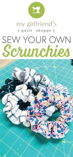 Sew Your Own Scrunchies! – My Girlfriends Quilt Shoppe Sew Your Own Scrunchies! – My Girlfriends Quilt Shoppe,HAARBAND NÄHEN This week on our demo table we learned how to sew your own scrunchies! Sewing Hacks, Sewing Tutorials, Sewing Crafts, Sewing Tips, Sewing Art, Leftover Fabric, Sewing Projects For Beginners, Diy Projects, Easy Seeing Projects