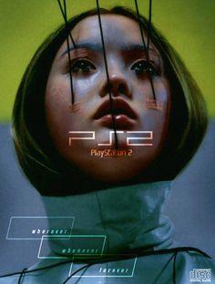"reality-pill: "" Devon Aoki for Playstation 2 ad. Vaporwave, Cyberpunk, Devon Aoki, Photoshop, Branding, Playstation 2, Retro Futurism, Print Ads, Art Print"