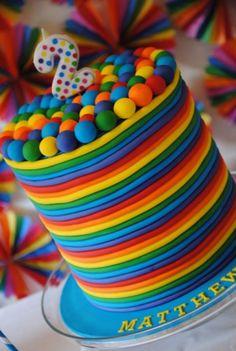 #rainbow #cake #party Birthday Party Ideas - Blog - RAINBOWPARTY
