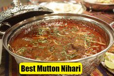 Mutton Nihari is one of mouthwatering Pakistani food recipe. This is very easy recipe, you don't need anything special for it. Indian Chicken Recipes, Veg Recipes, Spicy Recipes, Indian Food Recipes, Cooking Recipes, Pakistani Food Recipes, Ethnic Recipes, Indian Foods, Snacks Recipes