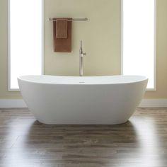 "65"" Allene Resin Freestanding Tub - Solid Surface Tubs - Bathtubs - Bathroom"