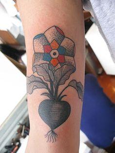 stefan sinclair radish flower #tattoos