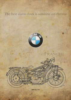 BMW R32 1923 Classic Motorcycles quote The best by drawspots, $38.00
