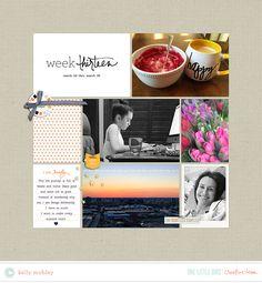 #papercrafting #scrapbook #layout idea: Creative Team Inspiration | One Little Bird