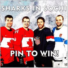 PIN TO WIN! Repin this photo by midnight on Feb. 21 for a chance to win an Antti Niemi signed puck and Sharks tickets. Winner will be contacted in comment section. Details at: www.sjsharks.com/sochisweepstakes