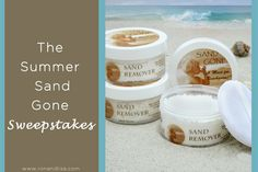 The Summer Sand Gone Sweepstakes! ENTER TO WIN ! (2) Winners will receive…   3 x Sand Gone Beach Bags each including: -8 oz. Family size Sand Gone -2 oz. Individual size Sand Gone -Premium Handmade Almond Coconut Soap Bar -Beautiful Display Bag A $156.00 Value!!