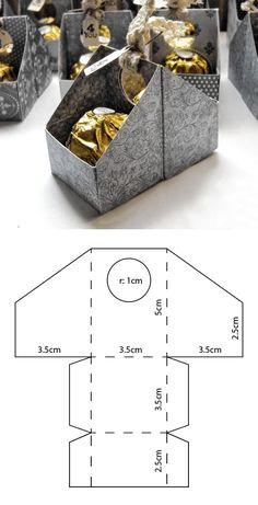 Ferrero box template- # ferrero # template- # BoxesBasteln - Modèle de boîte Ferrero- # Ferrero # BoîtesCrafts Best Picture For diy home decor - Diy Gift Box, Diy Box, Diy Gifts, Gift Boxes, Diy Paper, Paper Crafts, Paper Art, Paper Box Template, Box Templates