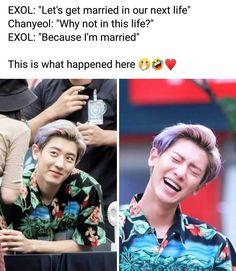 Kpop Exo, Exo Chanyeol, Kyungsoo, Exo Memes Funny, Exo Facts, Kdrama Memes, Fandoms, Dad Jokes, Chanbaek