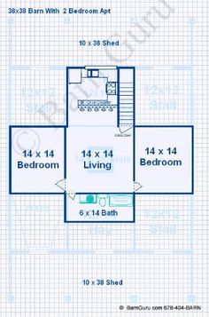 Barn plans stablewise gallery horse barn ideas for Barn apartment floor plans