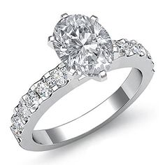 $6,599  -  * GIA CERTIFIED * 2.10 CARATS OVAL CUT DIAMOND SOLITAIRE ENGAGEMENT RING ON 14K SOLID WHITE GOLD F 26 D http://www.amazon.com/dp/B00M4DVCHQ/ref=cm_sw_r_pi_dp_PxOyub1KD9BS9