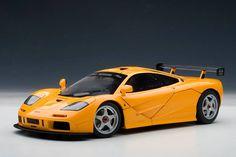 Mclaren LM Edition Historic Orange Diecast Car Model by Autoart Autoart Diecast, Mclaren F1, Mercedes Benz Cars, Diecast Model Cars, Dream Cars, Scale, 18th, Orange, Vehicles