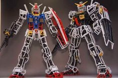 Awesome Gundam Made of Leftover GunPla Runners - Gundam Kits Collection News and Reviews