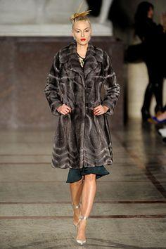 Everything at #ZacPosen is gorgeous, especially this fur.  #NYFW