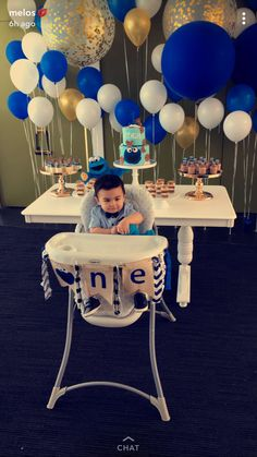 1st choice. Monster 1st Birthdays, Monster Birthday Parties, First Birthdays, Boys 1st Birthday Party Ideas, Baby Boy First Birthday, Cookie Monster Party, Sesame Street Birthday, Decoration, Balloons