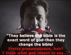 """If the bible is the word of god, then why do you get to """"interpret"""" it?"""