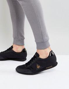 eb36046a0a70 le coq sportif racrone nylon patent sneakers in black