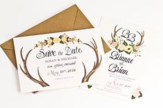 I am in LOVE with this invitations - perfect for a #fallwedding! You will love these adorable floral Wedding Invitations for Every Season! Stop by www.3d-memoirs.com to check out these beauties! *Wedding Invitations for Every Season*