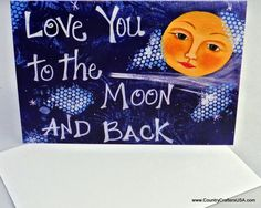 Greeting card of my hand painted mixed media by CountryCraftersUSA, $3.00