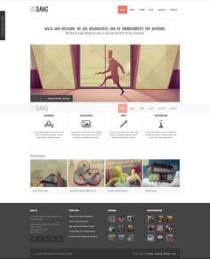 Bigbang Popular Premium Responsive WordPress Template Download #webdesign #wpthemes