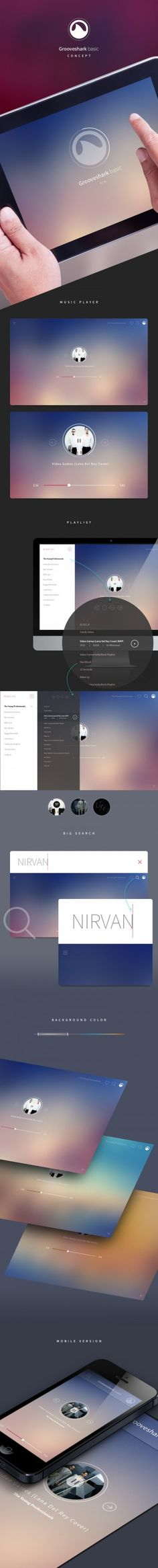 Concept – GROOVESHARK BASIC PLAYER. | Inspiration DE