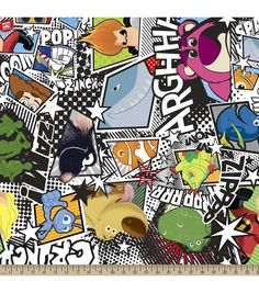 Disney Pixar Monsters, Inc. Fleece FabricDisney Pixar Monsters, Inc. Fleece Fabric,