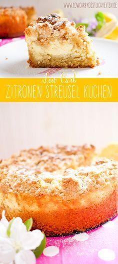 Fruchtig cremiger low carb Zitronen Streuselkuchen #lowcarb # statt quarkbelag Zwetschgen verwenden und Sahne durch veggisahne
