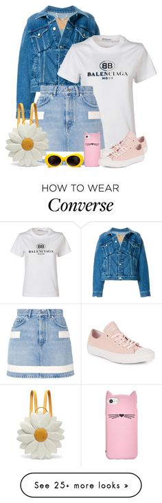 """""""Untitled #495"""" by amea412 on Polyvore featuring Balenciaga, Givenchy, Kate Spade, Converse and Charlotte Olympia"""