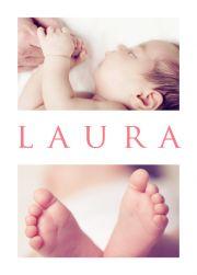 Laura's Big Day - Birth Announcements