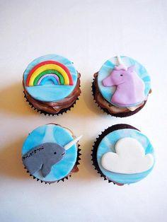 unicorn cupcake!