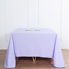 """90"""" Lavender Square Polyester Tablecloth Head Tables, Banquet Tables, Reception Table, Party Tables, Wedding Tables, Wedding Cake, Chair Covers, Table Covers, Lavender Wedding Decorations"""