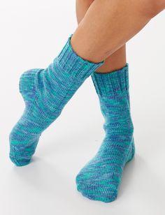 Yarnspirations.com - Bernat Basic Socks  - Free Knit Patterns - Intermediate  | Yarnspirations