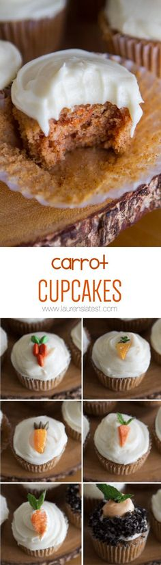 Carrot Cupcakes... You can't go wrong with cream cheese frosting!
