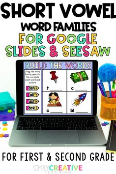 Get your set of digital short vowel word families for Google Classroom and Seesaw today! The perfect activity for 1st and 2nd grade students to use in-person or for distance learning. Students will love the digital worksheet and games included such as: word sorts, short vowel spelling, sentences, abc order, and more! These distance learning short vowel activities are completely paperless! Teachers will love the low-prep and easy to use practice activities. Get your set today!