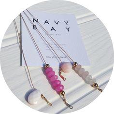 Pinks from #NavyBay | Queen conch shell | Jade | Opal | Rose Quartz  #pink #jewellery #handmade #gemstone #shell