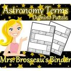 Use this Domino Puzzle to help students review common Astronomy terms.  I use this puzzle with my Grade 9 Science Classes for the Earth
