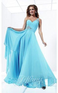 One Shoulder Prom Dress by Tiffany TF-16693