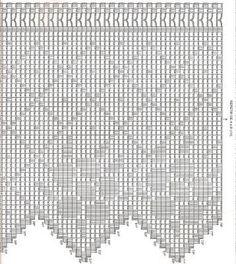 Risultati immagini per barras de crochet para cortinas Crochet Tree, Annie's Crochet, Diy Crafts Crochet, Love Crochet, Filet Crochet, Crochet Doilies, Yarn Crafts, Crochet Stitches, Crochet Projects