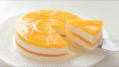 オレンジ・レアチーズケーキの作り方 No-Bake Orange Cheesecake*Eggless Recipe|HidaMari Cooking Orange Cheesecake Recipes, Cheesecake Fruit Salad, Jelly Cheesecake, Jelly Cake, Orange Recipes, Classic Cheesecake, Homemade Cheesecake, Eggless Desserts, Eggless Recipes