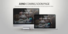 Juno Coming soon page . The Juno Coming Soon project is a under construction theme for your website. Comes in two variants. Fully responsive & Bootstrap based, easy for you to edit. Juno comes with creative & unique layout. Perfect way to launch your site. Stand out from the crowd and make a good impression. It has a lot