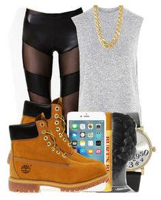 """Random :D"" by marvelfaith ❤ liked on Polyvore featuring Topshop, Forever 21, Burt's Bees, Timberland and CC SKYE"