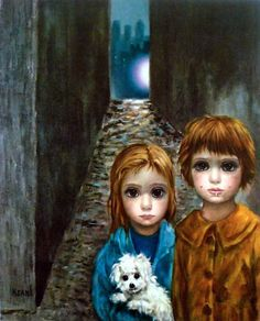 Who is the mother of big-eye art? Margaret Keane, of course! Her poignant paintings, mass produced as prints in the and captured the hearts of the masses and are popular once again. Big Eyes Margaret Keane, Keane Big Eyes, Margareth Keane, Big Eyes Movie, Keane Artist, Big Eyes Paintings, Big Eyes Artist, Hawaiian Art, Eye Art