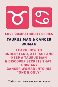 Hey there beautiful Cancer lady! I believe you are here for a reason: you want a committed relationship with that Taurus man in your life. I've consulted many clients with this special combination and have helped them find a way to align their stars and make it work after all. I can help you too, just keep reading. Taurus Man, Love Compatibility, Cancer Man, Make It Work, Believe In You, The Secret, Love Her, Relationship, Stars