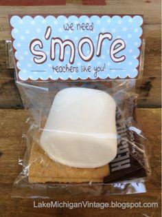 Cheap & Easy Teacher Appreciation Gift Idea - S'mores Gift Bag DIY