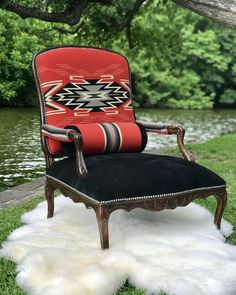 The video below shows how to restore color to a velvet chair with leather dye. Bought A New Velvet Chair For My Western Furniture, Funky Furniture, Rustic Furniture, Painted Furniture, Furniture Ideas, Cabin Furniture, Furniture Outlet, Upholstered Furniture, Online Furniture