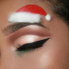 'Santa Hat Brows' Insta : @nesadevi (Christmas Look #5) #santababy #mrsclaus