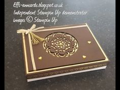 Lindt chocolate box using Stampin Up supplies